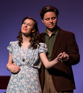 MacKenzie Cahill and Jeffrey Trent In The Fantasticks, 2017.